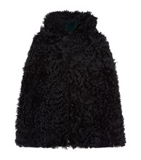 Red Valentino Reversible Shearling Cape Female