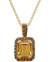 Le Vian Chocolatier Citrine 1 1 3 Ct. T.W. And Diamond 1 4 Ct. T.W. In 14K Gold Yellow Gold