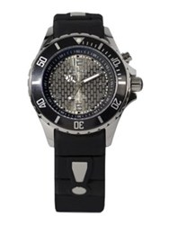 Kyboe Power Black Silicone And Stainless Steel Strap Watch 40Mm