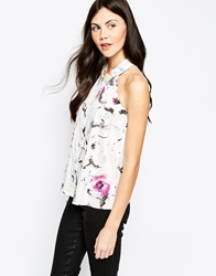 Aryn K Abstract Print Sleeveless Top Multi