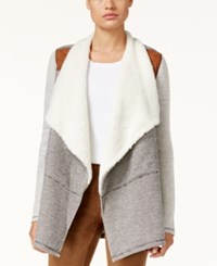Styleandco. Style Co. Cascade Front Sherpa Jacket Only At Macy's Deep Black