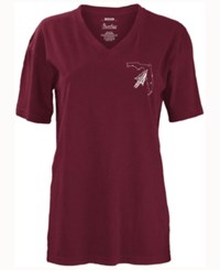 Pressbox Women's Florida State Seminoles Elly May Big T Shirt Maroon