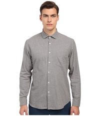 Billy Reid John T Shirt Button Up Solid Grey Men's T Shirt Gray