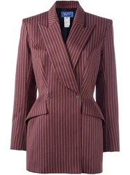 Thierry Mugler Vintage Double Breasted Blazer Pink Purple