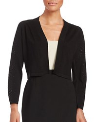 Calvin Klein Embellished Crop Cardigan Black