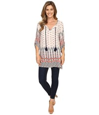Dylan By True Grit Gypsy Tunic Sand Women's Blouse Beige