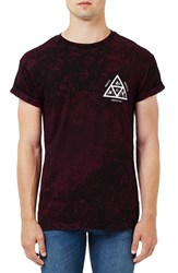 Topman Men's 'Omega' Graphic Crackle Print T Shirt