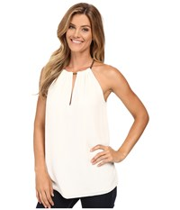 Michael Michael Kors Small Chain Neck Sleeveless Top Cream Women's Sleeveless Beige