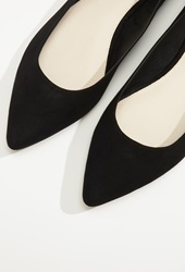 Forever 21 Faux Suede Pointed Flats Black