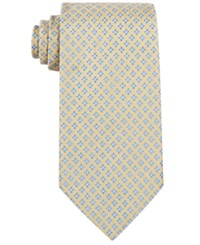 Brooks Brothers Men's Four Petal Flower Classic Tie Yellow