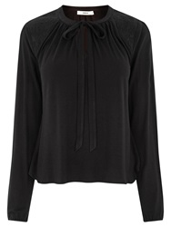 Oasis Pussy Bow Blouse Black