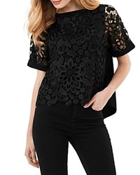 Phase Eight Georgie Lace Front Blouse Black