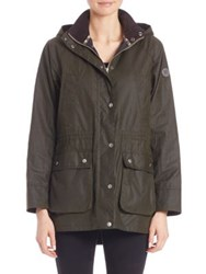 Barbour Brae Waxed Cotton Parka Seaweed