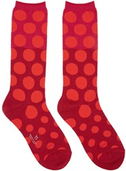 Y's Red Dot Socks