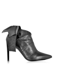 Proenza Schouler Black Leather And Felt Bootie