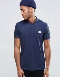 Jack And Jones Pique Polo Shirt With Logo Navy