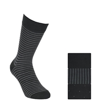John Lewis Bamboo And Cotton Pattern Socks Pack Of 3 Black