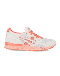 Asics Light Grey And Orange Gel Lyte V Suede Sneakers