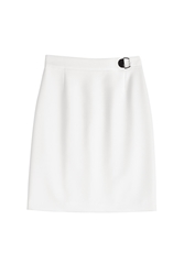 Hugo Stretch Jersey Pencil Skirt White