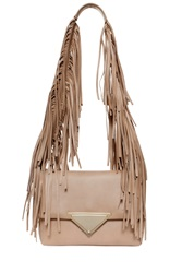 Sara Battaglia Teresa Shoulder Bag Beige