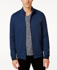 Alfani Men's Two Tone Zipper Jacket Mock Collar Elevate Combo