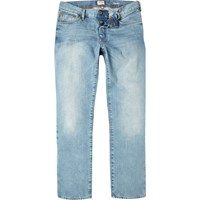 River Island Mens Light Wash Dean Straight Jeans