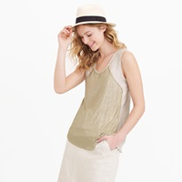 J.Crew Collection Linen Chain Mail Tank Top