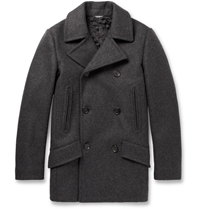 Dolce And Gabbana Wool Blend Peacoat Gray