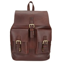 John Lewis And Co. Leather Backpack Brown