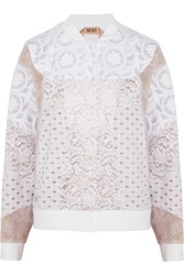 N 21 Genie Lace Broderie Anglaise And Embroidered Jacket White