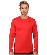 Nike Dri Fit Training Long Sleeve Shirt Gym Red University Red Black Men's Clothing