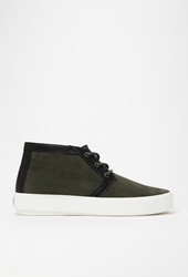 Forever 21 Unnown Josef Suede Mid Top Sneaker Olive