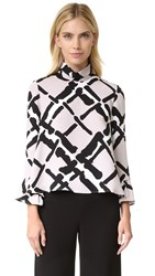 Derek Lam Fold Over Collar Blouse Quartz