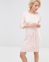 Lavand Waist Tie Dress In Pink Pink