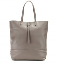 Tomas Maier Leather Shopper Grey