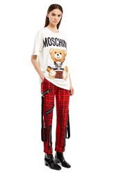 Moschino Plaid Pants Red