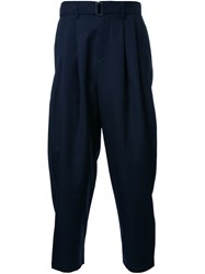 Attachment Belted Trousers Blue