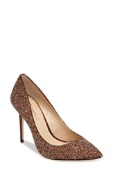 Imagine By Vince Camuto Women's 'Olson' Crystal Embellished Pump Bronze Satin