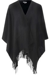 Alice And You Tassle Blanket Cape Black