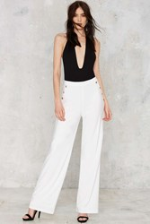 Nasty Gal Flown In Wide Leg Pants White