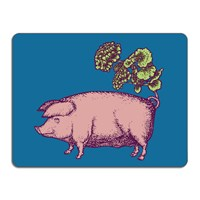 Avenida Home Puddin' Head Animal Table Mat Pig