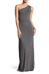 Go Couture One Shoulder Maxi Dress Gray