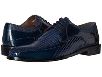 Stacy Adams Graziano Leather Sole Bike Toe Oxford Dark Blue Men's Lace Up Casual Shoes