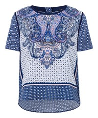 Olsen Multiprint Top Navy