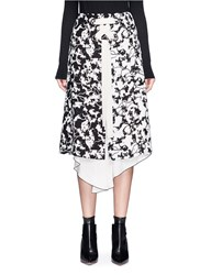 Proenza Schouler Lace Up Abstract Print A Line Skirt Multi Colour