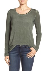 Paige Women's 'Odette' Long Sleeve Shirt Vintage Army