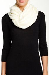 14Th And Union Textured Infinity Scarf White