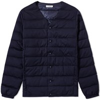 Nanamica Down Cardigan Blue