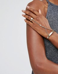 Low Luv X Erin Wasson Gold Plated Ring And Hand Harness Gold