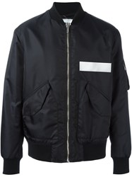 Msgm Bomber Jacket Blue